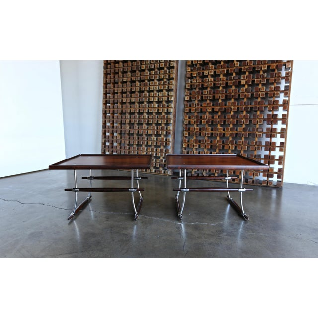 Mid 20th Century Jens Quistgaard Rare Pair of Rosewood Tables for Nissen Denmark, 1960 For Sale - Image 5 of 13