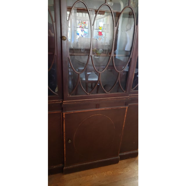 20th Century Gothic Mahogany China Cabinet For Sale - Image 11 of 12