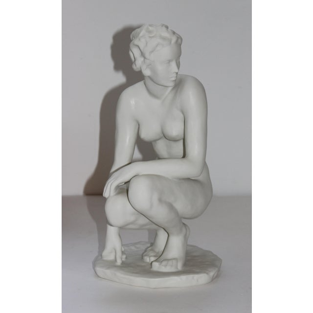"""This stylish Rosenthal Art Deco figure is titled """"Die Hockende"""" / """"The Squat"""" and was originally created in 1936 by the..."""