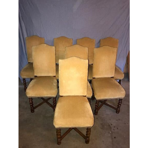 French Vintage Dining Chairs - Set of 8 - Image 2 of 11