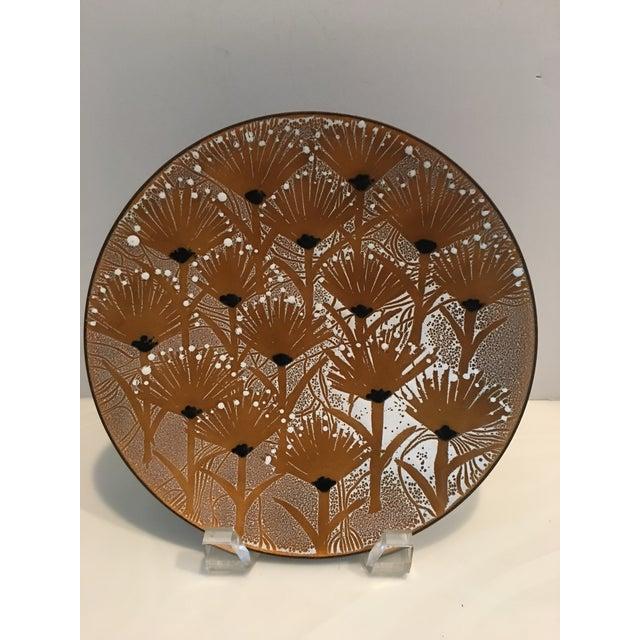 1960s Francoise Desrochers-Drolet Enameled Plate For Sale - Image 5 of 5