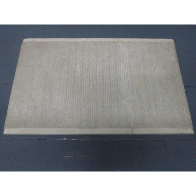 Pair Italian Marble End Tables For Sale - Image 4 of 6