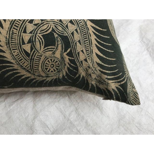 Asian Serpent Gray Batik Pillows - A Pair - Image 9 of 11