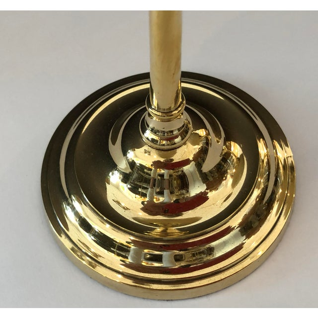 Italian Ostrich Egg & Polished Brass Candle Holders - a Pair For Sale In West Palm - Image 6 of 9
