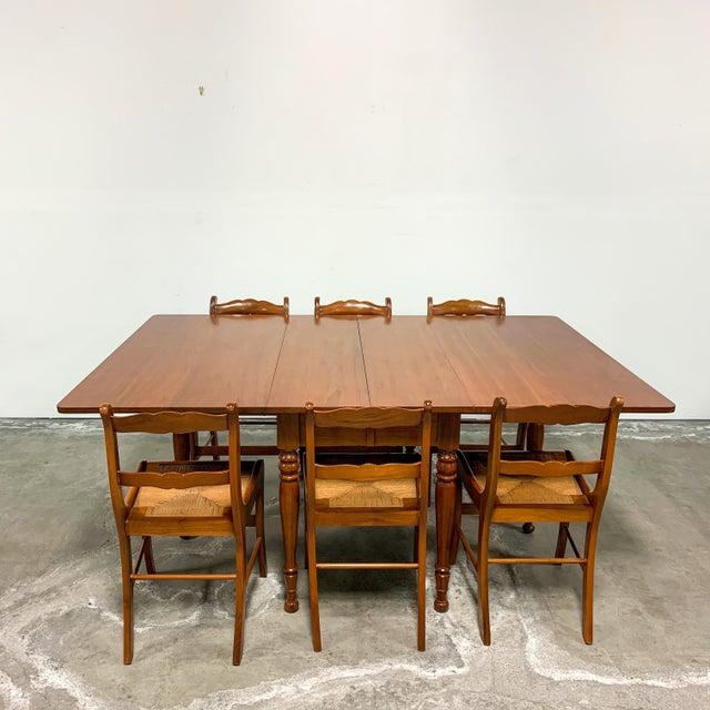 1950s Amana Furniture Walnut Drop Leaf Dining Set - 7 Pieces For Sale - Image 9 of 9