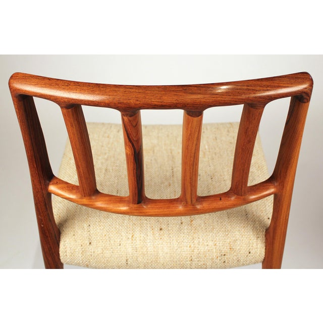 Set of 10 Dining Chairs in East Indian Rosewood by Niels Otto Moller For Sale In Dallas - Image 6 of 10