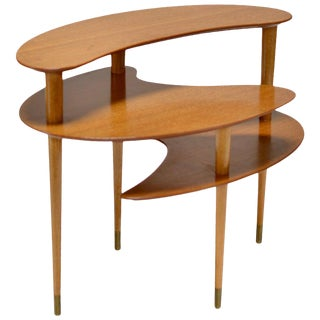 1960s Brown and Saltman Tri-Level End Table by John Keal For Sale