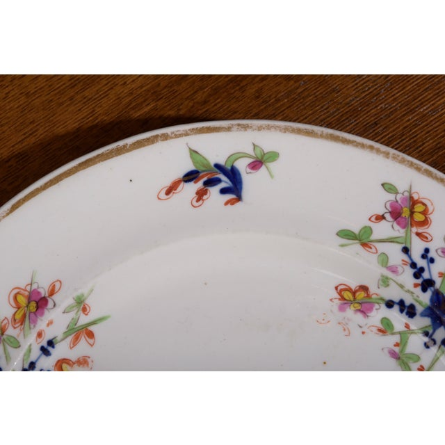 Blue 18th Century Staffordshire Soft Paste Floral Plates - Set of 12 For Sale - Image 8 of 13