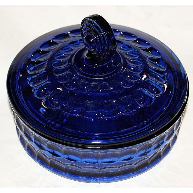 Imperial Cobalt Lidded Bowl - Image 4 of 6