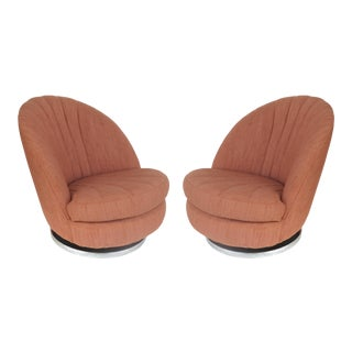 Milo Baughman / Thayer Coggin Swivel & Tilt Lounge Chairs-A Pair For Sale