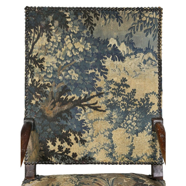 Flemish Baroque Walnut Armchair For Sale In Boston - Image 6 of 12
