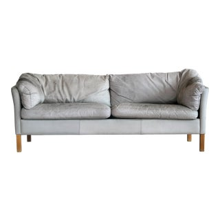 Mid-Century Danish Leather Three-Seat Sofa Model Mh535 by Mogens Hansen For Sale