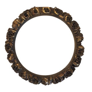 Antique Carved Gilt Wood Roses Frame