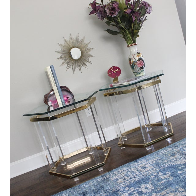 Charles Hollis Jones Style Lucite Tables - A Pair - Image 5 of 10
