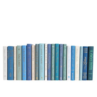 Modern Blue & White Book Set : Ocean Miniatures, S/21 For Sale