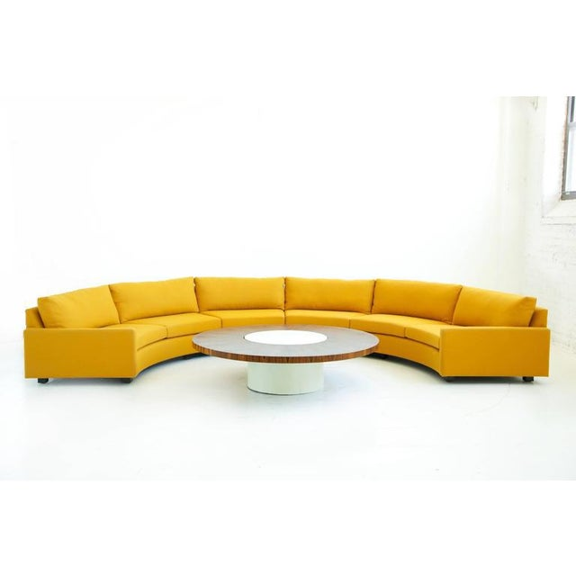 Textile Milo Baughman Semi-Circle Sectional Sofa For Sale - Image 7 of 10