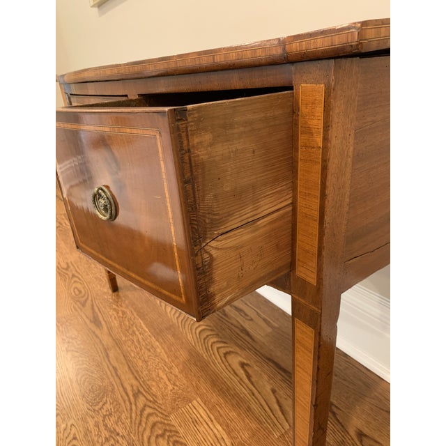 Wood Antique English Vanity Small Desk Mahogany For Sale - Image 7 of 11
