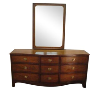 Kindel Solid Mahogany Dresser With Mirror For Sale