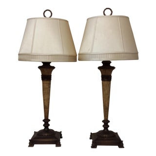 Antique Fine Arts Lamps - A Pair For Sale
