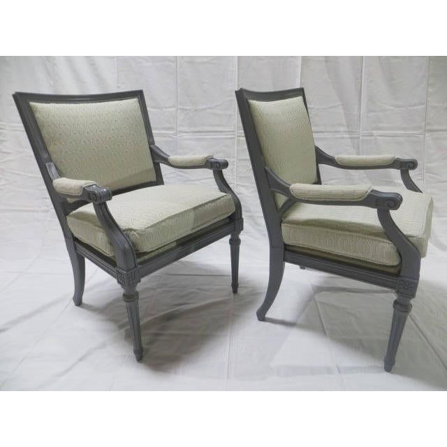 1900 - 1909 French Directoire Side Chairs - A Pair For Sale - Image 5 of 11