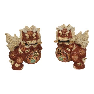 Japanese Foo Dogs - a Pair Made in Japan For Sale