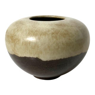 Rare Alvino Bagni Large Earth Tone Vase 1960's For Sale