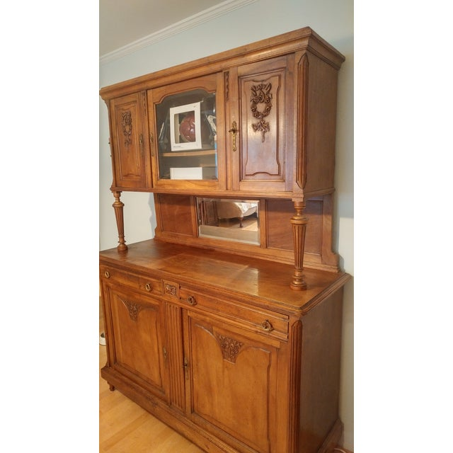 Antique Kitchen Hutch And Buffet: Antique Oak Buffet With Hutch