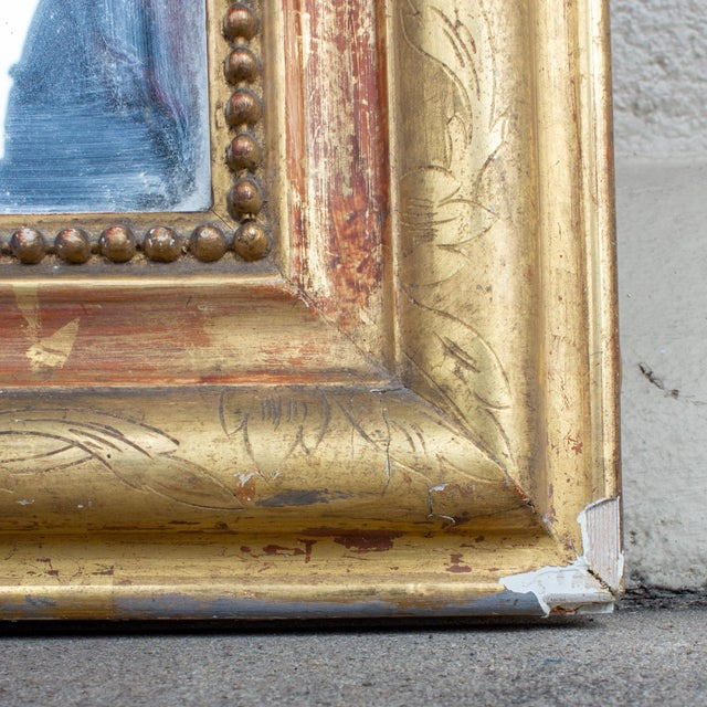 Antique French Gilt Louis Philippe Mirror With Floral Details For Sale In Houston - Image 6 of 13
