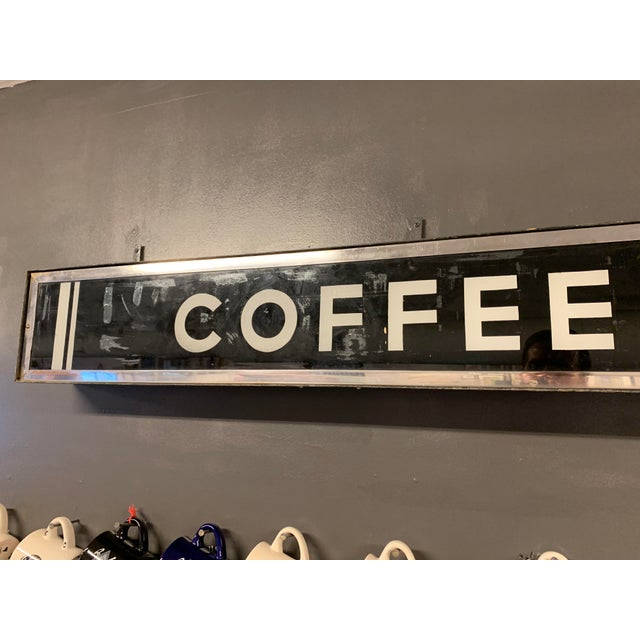 Industrial 1950's Vintage Illuminating Coffee Shop Sign For Sale - Image 3 of 6