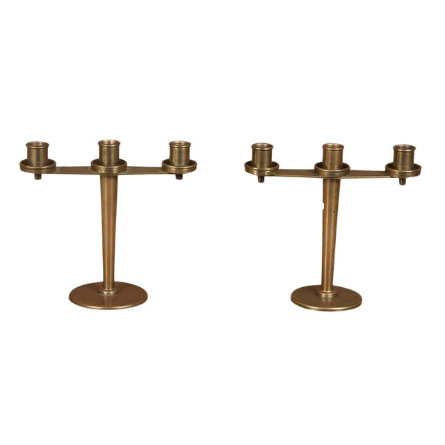 Tiffany & Co. Art Deco Bronze Candelabra - a Pair For Sale