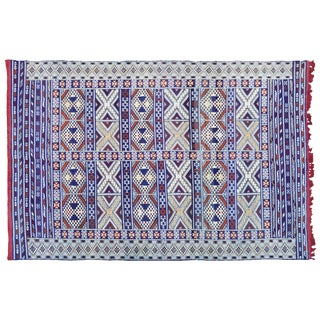 Moroccan Rug W/ X & Diamonds - 8' X 5'7'' For Sale