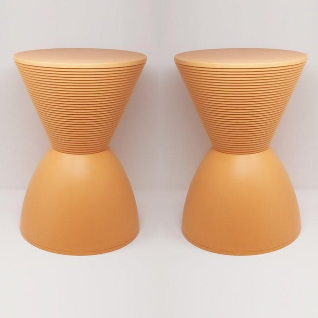 "Astonishing pair of stools ""Prince Aha"" designed by Philippe Stark, produced in 1996 by kartell - Made in Italy. This..."