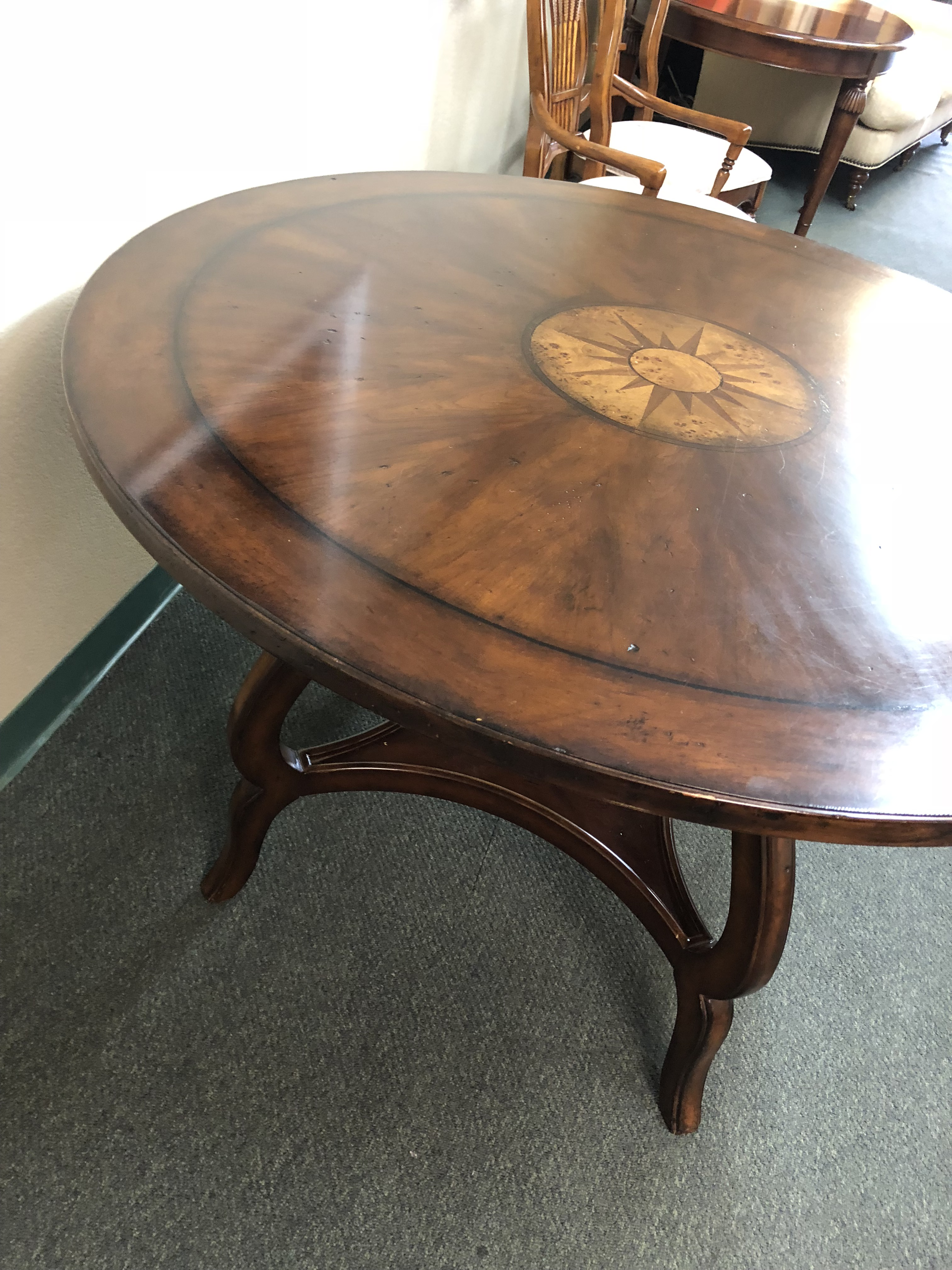 2000s Compass Rose Table By Woodbridge Furniture For Sale   Image 5 Of 13