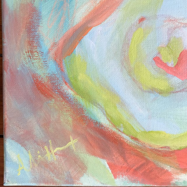 """Abstract Acrylic Painting """"Rainbow Row"""" by Alice Miles - Image 3 of 5"""