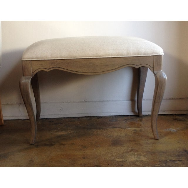 Tan Louis XV Provincial Style Benches - Pair For Sale - Image 8 of 9