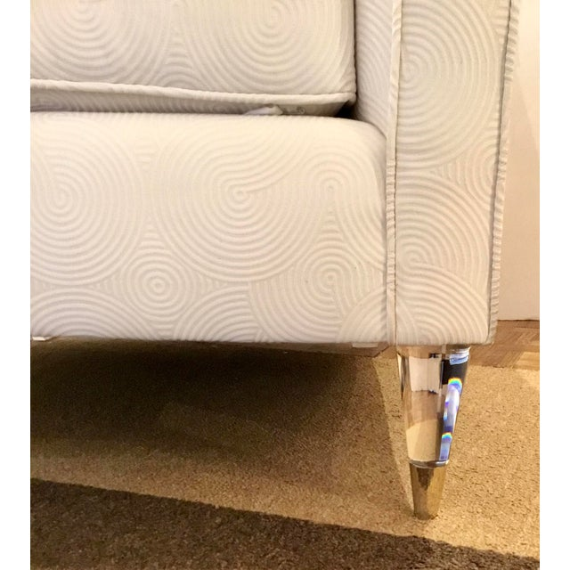 Modern Caracole Modern White Just Wing It Club Chair Prototype For Sale - Image 3 of 7