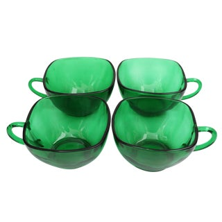 Emerald Green Tea Cups - Set of 4 For Sale