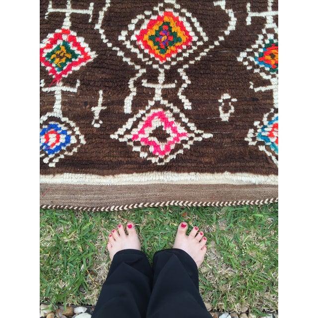 Azilal Moroccan Wool Rug - 4′5″ × 6′1″ - Image 7 of 7