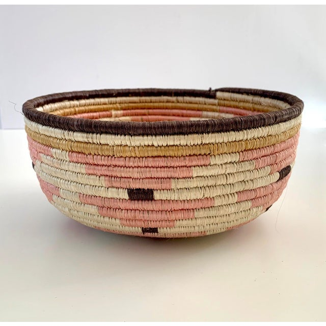 Pale Blush Sozi Catch All Woven Bowl For Sale - Image 10 of 10