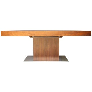 Italian Contemporary Walnut Extendable Dining Table For Sale