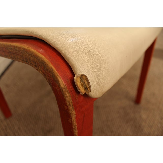 Red Knoll Bill Stevens Mid-Century Bentwood Side Chairs - A Pair For Sale - Image 8 of 11