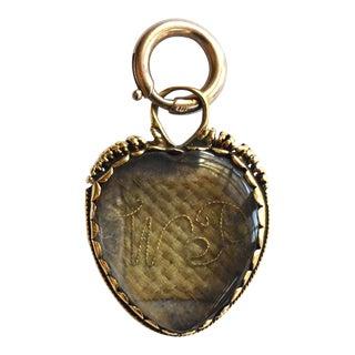17th-Century Stuart Crystal Heart Pendant For Sale