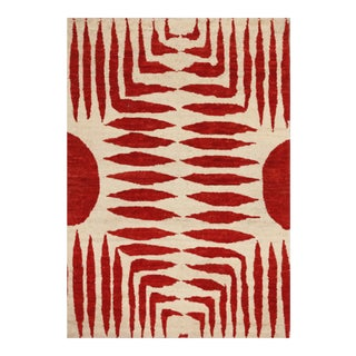 Nepalese Hand-Knotted Sunrise Rug - 2′11″ × 3′ For Sale