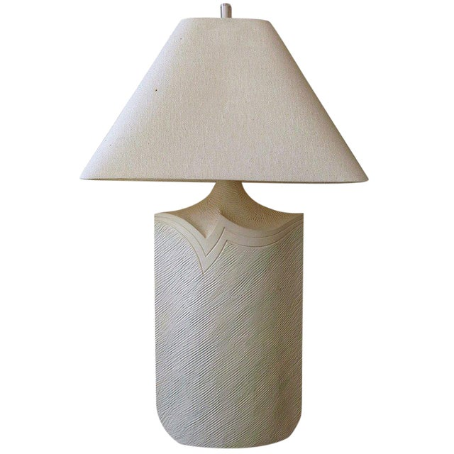 Large Plaster and Lucite Lamp by Casual Lamps of California For Sale