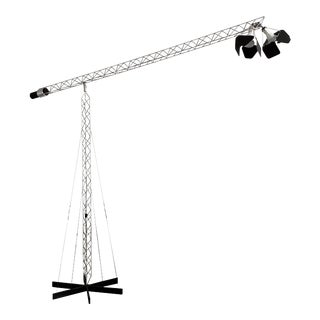 Monumental Curtis Jere Crane Floor Lamp For Sale