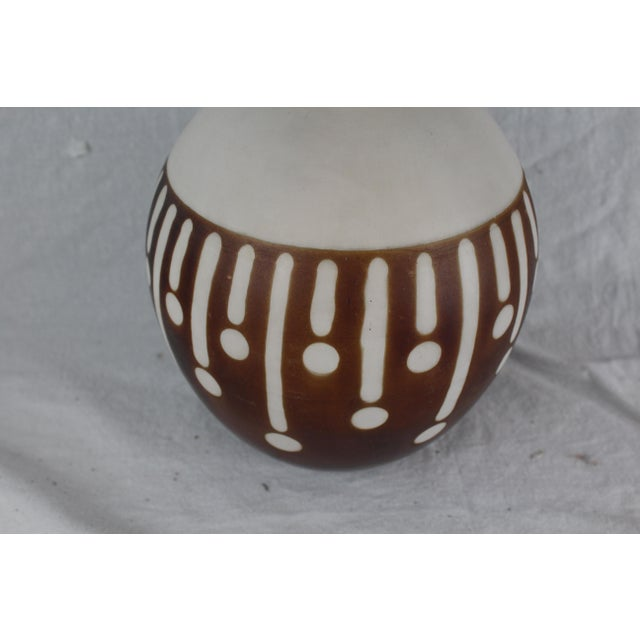 Mid 20th Century Santodio Mid-Century Modern Pottery Vase For Sale - Image 5 of 8