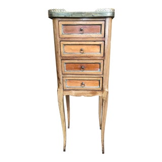 19th Century Traditional Marble Top Petite Commode For Sale