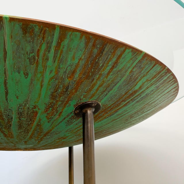 """Bronze David Orth Patinated Steel """"Meteorite"""" Coffee Table For Sale - Image 7 of 12"""