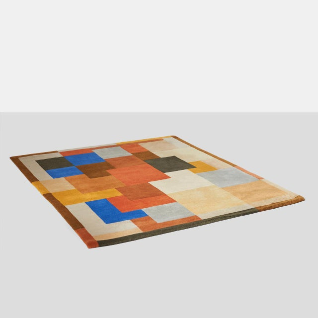"""""""Labrinthe"""" by Sonia Delaunay A hand tufted wool area rug in a geometric Art Deco pattern. Signed with SD initials on the..."""