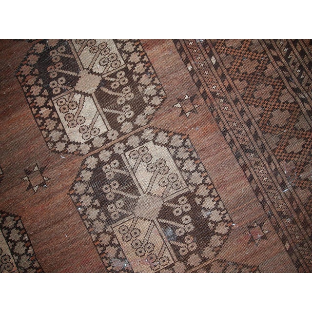1900s handmade antique Afghan Ersari rug 8.6' X 11.8' For Sale - Image 12 of 13